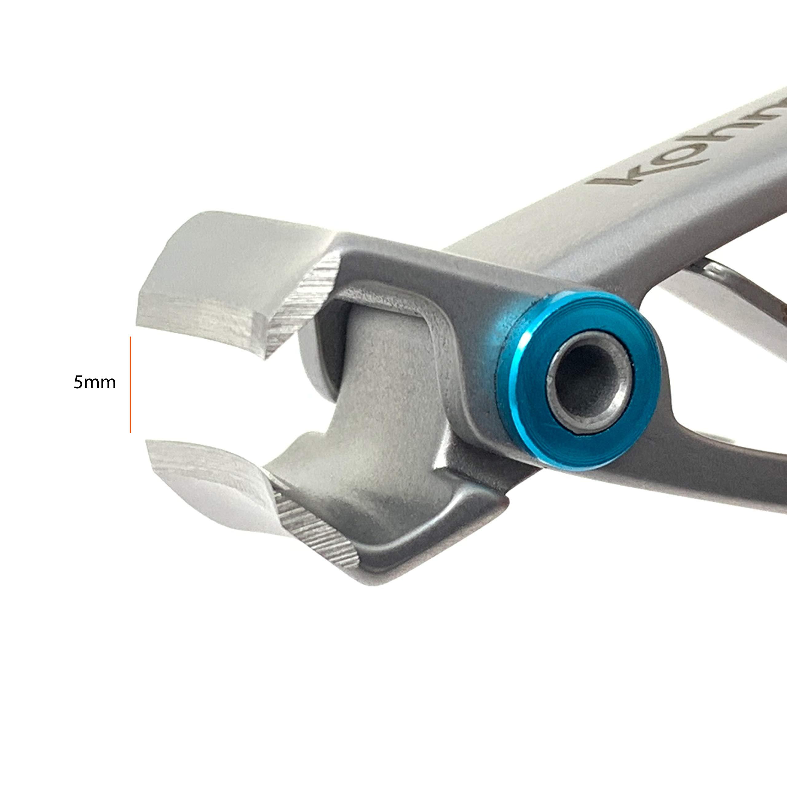 Kohm CP-120L 5mm Heavy Duty, Wide Jaw Toenail Clippers for Thick Toenails or Tough Fingernails, Large Toenail Clippers for Men, Seniors, Adults by KOHM