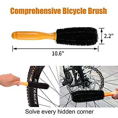 8pcs Bicycle Chain Brushes Mountain Road Bike Cleaning Scrubber Repair Tool