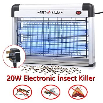 36W Industrial UV Electric Insect Killer Fly Bug Mosquito Wasp Pest Zapper Cafe