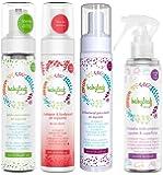Kit Inicial Marca Babyleaf Natura - Jabón para manos en espuma - Shampoo recien nacido en espuma - Antibacterial en Espuma - Limpiador todo Proposito - TODO NATURALMENTE