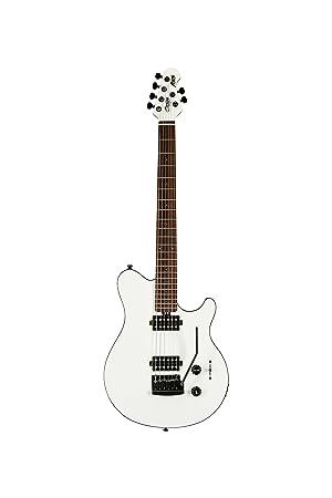 Sterling by Music AX3S Axis - Guitarra eléctrica para hombre, color negro y blanco: Amazon.es: Instrumentos musicales