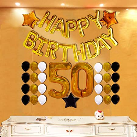 Augproveshak 50.º Set de Globos de cumpleaños Fiesta de ...