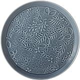 NARUMI 鸣海 盘子 碗 Anna Emilia 中夏草甸蓝 直径19cm 可用微波炉加热 可用洗碗机 日本制造 41612-5949
