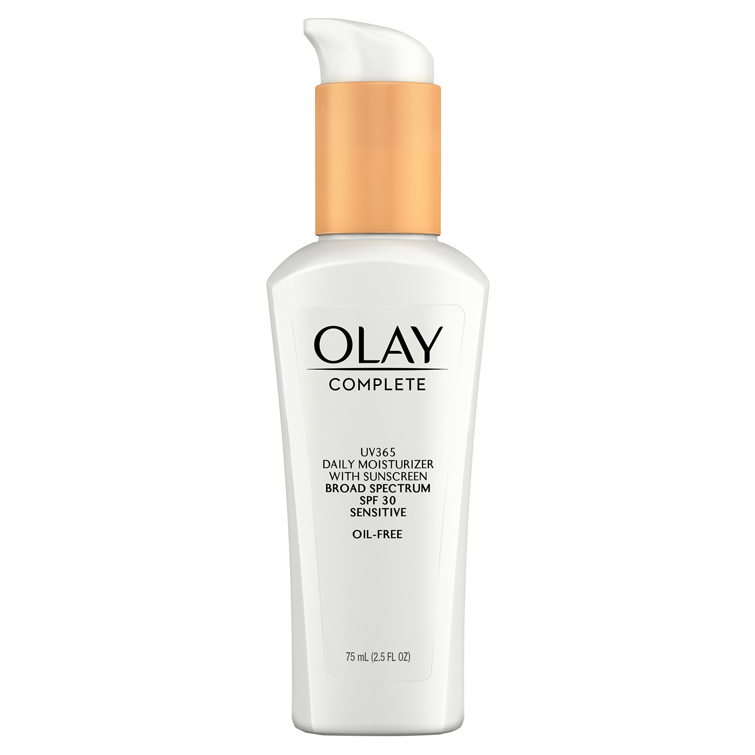 Face Moisturizer by Olay Complete Daily Defense All Day Moisturizer With Sunscreen, SPF30 Sensitive Skin, 2.5 fl. Oz., (Pack of 2) by Olay