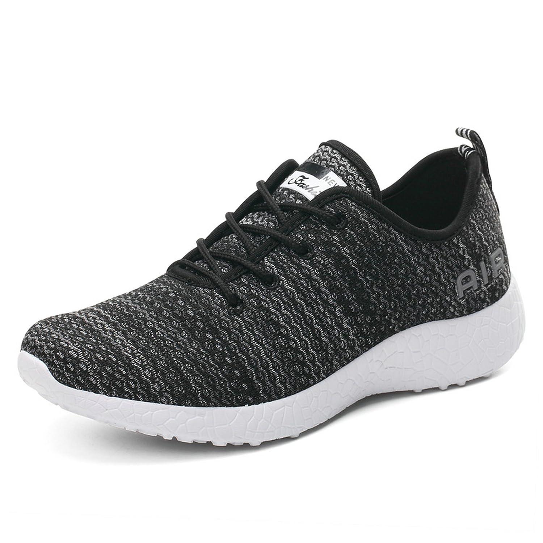 HZMIN Women's Running Shoes Fashion Sport Lightweight Walking Sneakers Black Size 7