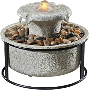 Homedics Euphoria Relaxation Tabletop Fountain, Natural