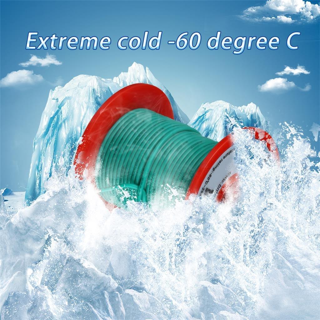 25 ft Black and 25 ft Red Bntechgo Calibre 20/Fil de silicone souple et r/ésistant aux temp/ératures /élev/ées tr/ès efficace 20/AWG Fil de silicone 100/brins de fil de cuivre /étam/é