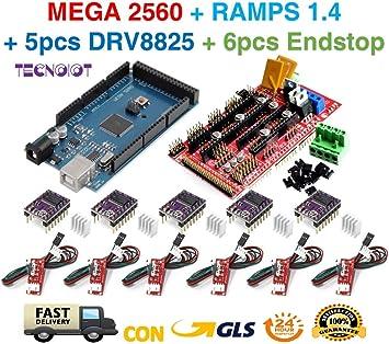 TECNOIOT Kit de Impresora 3D para Arduino Mega 2560 Junta de ...