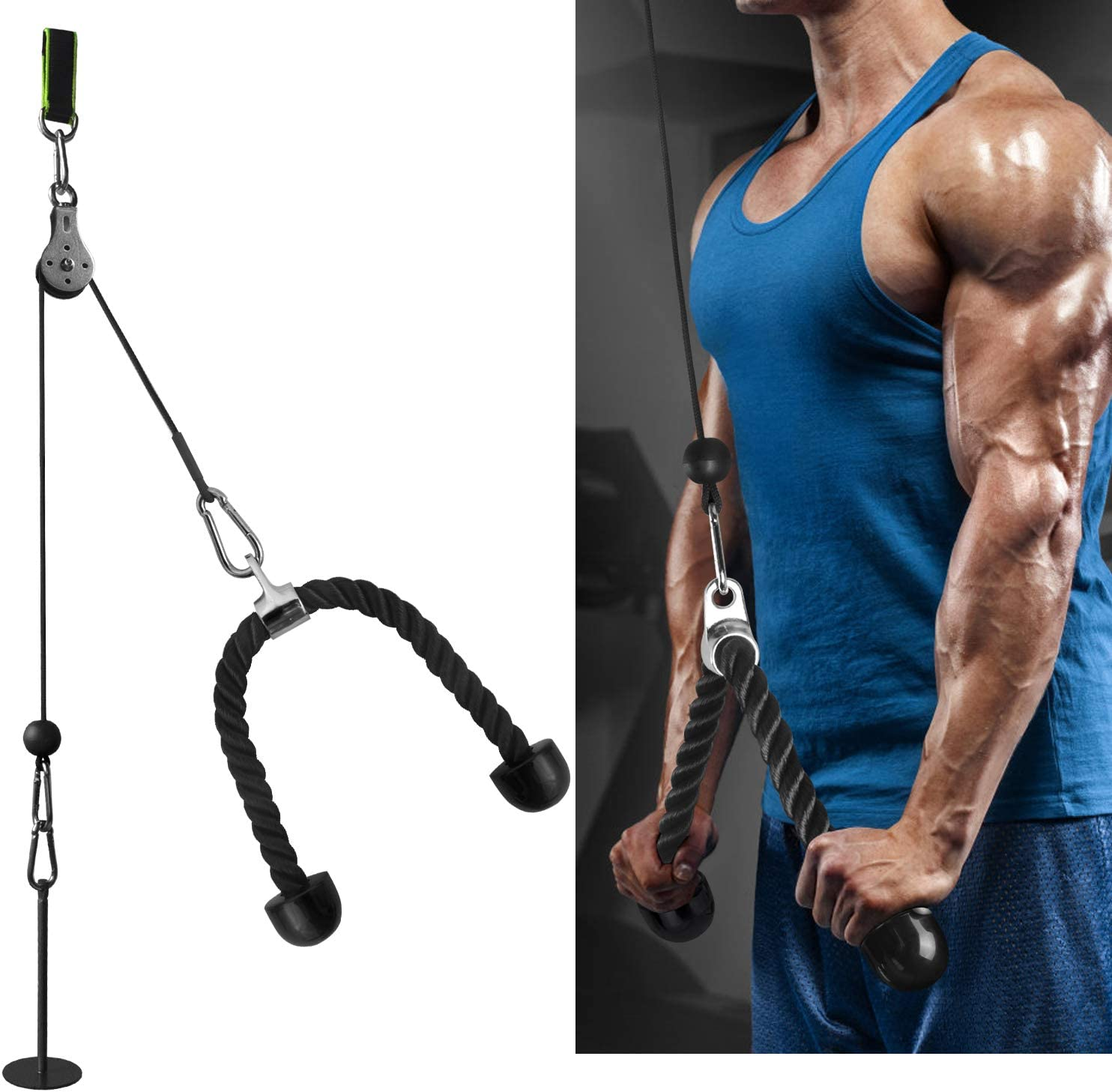 FASPUP Forearm Wrist Trainer Arm Strength Trainer Heavy-Duty Pulley System for Back, Forearm and Shoulder Training : Sports & Outdoors