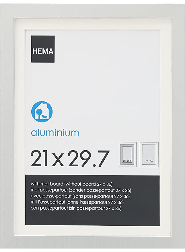 Hema Passe Partout.Hema Cadre Photo 21 X 29 7 Cm Aluminium Amazon Fr