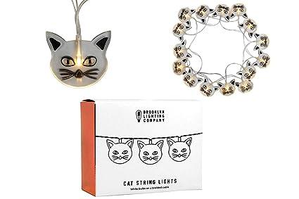Amazon.com: Brooklyn Lighting Company - 20 LED Cat String Lights ...