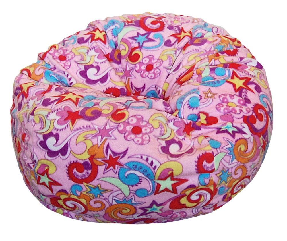 Ahh! Products Retro Fun Anti-Pill Fleece Washable Large Bean Bag Chair
