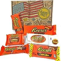 Caja de regalo caramelos Reeses americanos | Chocolate con mantequilla de cacahuete| Cesta de regalo por correo incluye peanut butter y piezas de barras de nueces