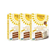 Simple Mills Almond Flour Mix, Vanilla Cupcake & Cake, Naturally Gluten Free, 11.5 oz, pack of 3
