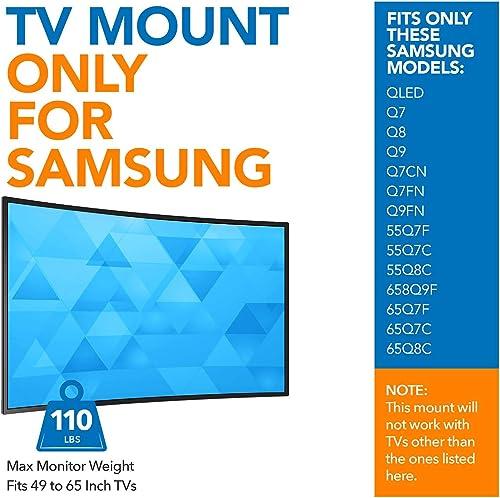 Mount-It No Gap TV Wall Mount for Samsung QLED Q7 Q8 Q9 Q7CN Q7FN Q9FN TVs, Tilting TV Bracket, Fits 49 to 65 Inch TVs, up to 110 lbs MI-366