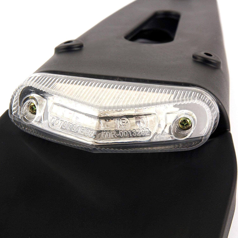 tout-terrain enduro HANEU Garde-boue arri/ère avec feu de freinage arri/ère /à LED pour moto motocross lentille transparente