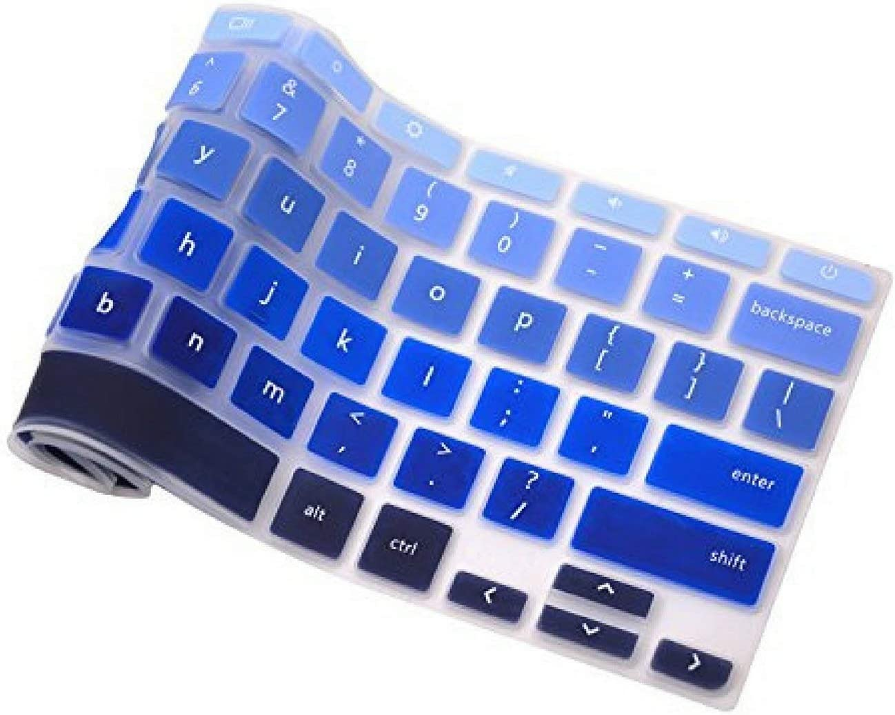 Casiii Keyboard Cover for Acer Chromebook 15 Inch Back to School Models CB5-571 15 Ombre Blue C910 CB3-531 Silicone Skin Laptops Accessories