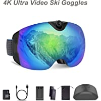 OhO 24MP 4K Ultra HD Action Camera Ski Goggles and 140 Degree Adjusted Camera with 32GB Memory