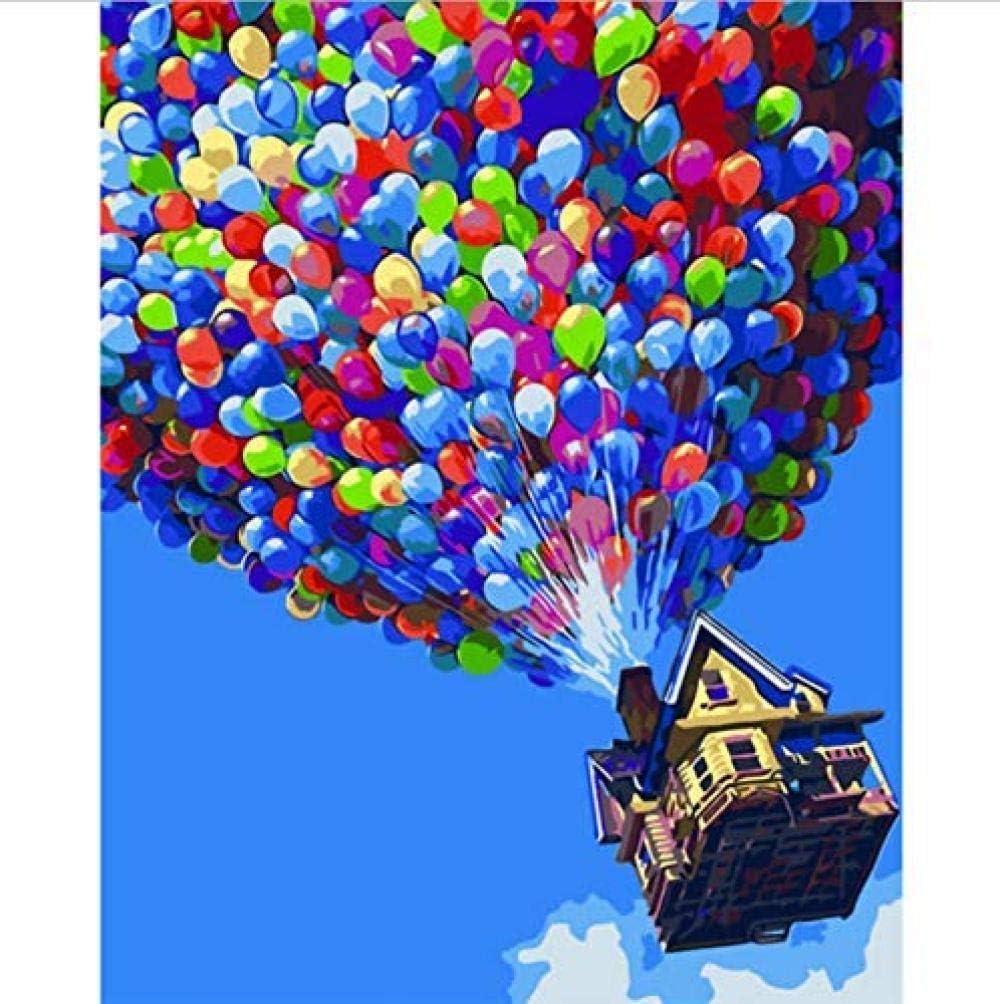 Peinture par num/éros Couleur Ballons Image Mur Art Home Decor Moderne Photo Cadeau Unique pour Enfant ami Adulte 40X50cm-No Frame