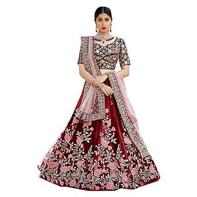 9ee65aa679c Amazon.com  Festival Offer Bridal Indian Wedding Designer Red Heavy Lehenga  Choli Dupatta Skirt top Custom to Measure party wear women Hit 30  Clothing