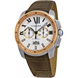 Cartier Men's W7100043 Calibre Analog Display Automatic Self Wind Brown Watch