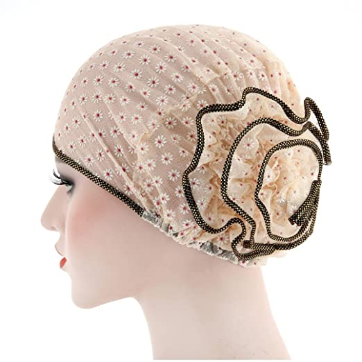 TOOPOOT Muslim Women s Cap Silk Yarn Turban Cancer Chemo Hats Loss Head  Scarf Wrap Cap ( e636cc715c5