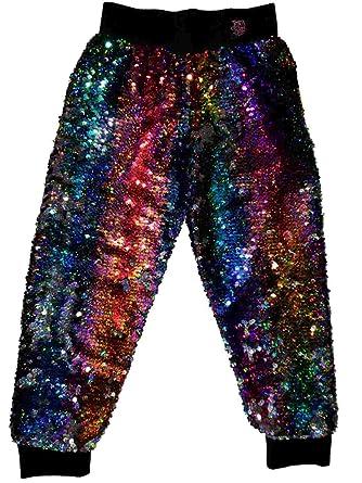 3c5cc2cb7fb Amazon.com: Girls JoJo Siwa Rainbow Flip Sequin Jogger Pants: Clothing