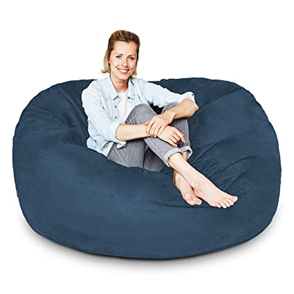 Fantastic 4 Ft Bean Bag Chair Cover Only Large Washable Memory Foam Furniture Bean Bag Replacement Cover With Wash Bag Without Bean Filling By Nest Bedding Dailytribune Chair Design For Home Dailytribuneorg