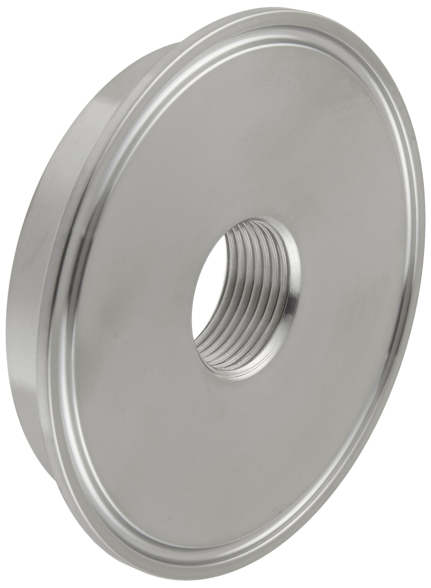 Dixon B23BMP-G300 Stainless Steel 304 Sanitary Fitting, Thermometer Cap, 3'' Tube OD x 3/4'' NPT Female