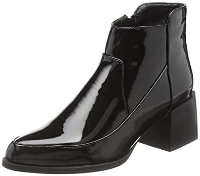 3b0187430d9c Boohoo Women s Grace Block Heel Patent Ankle Boots