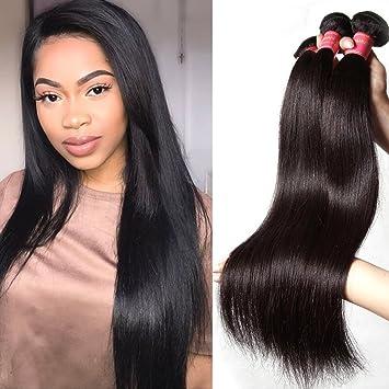 Amazon Com 8a Grade Brazilian Virgin Straight Hair Weave 3 Bundles