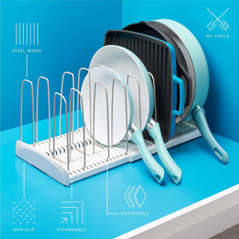 Plastique Acier YouCopia StoreMore Support de couvercle s/éparateur de fil suppl/émentaire blanc Taille unique