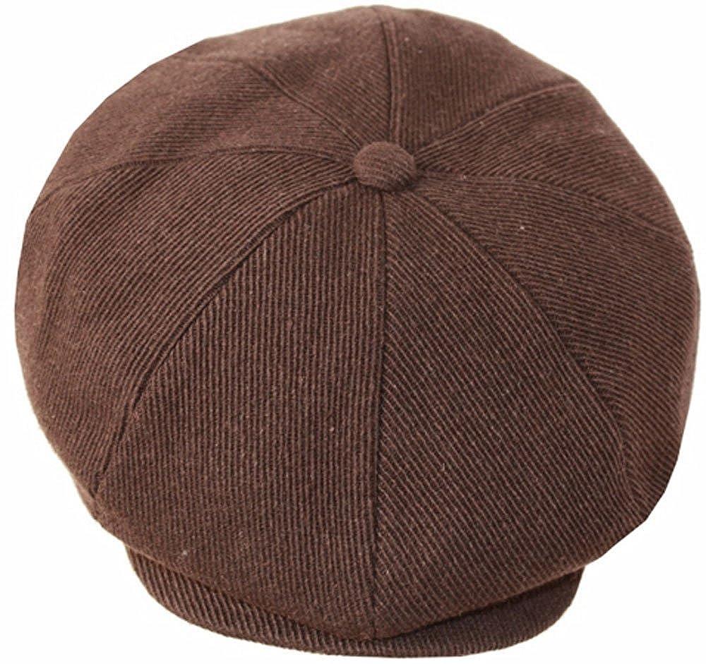 Sakkas Vintage Style Wool Blend Newsboy Snap Brim Cap 5055460165252