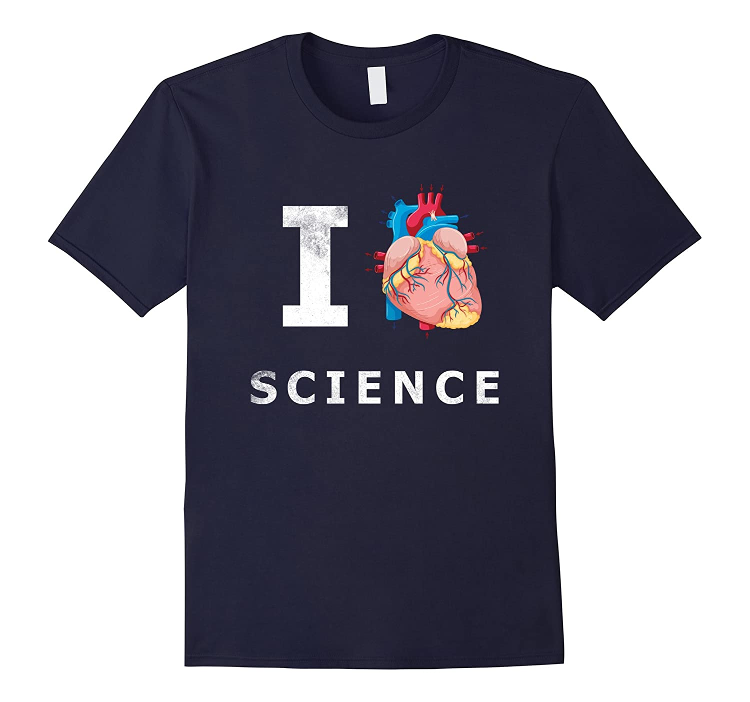 I Love Science Real Anatomical Heart T shirt Emoji Nerd Tee-TH