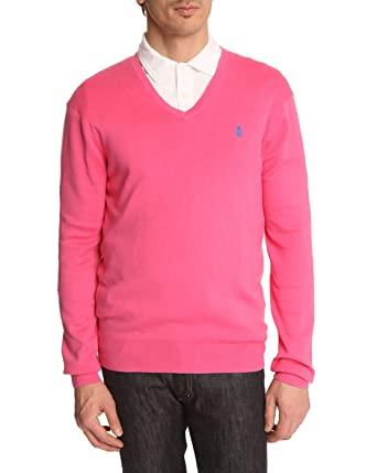 Polo Ralph Lauren Pulls col V - Homme - Pull Slim Fit Rose Terra pour homme a03efbd8334e