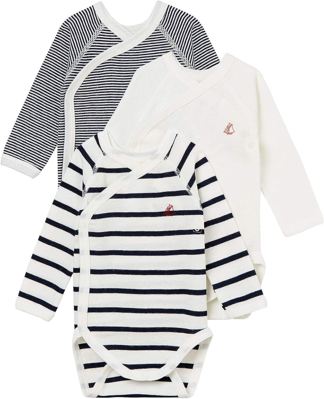 Petit Bateau Unisex Baby Formender Body 3er Pack
