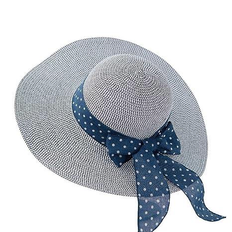 a209ba38d YXINY Viseras Gorro De Playa Mujer Verano Vacaciones Mar Sombra Protección  Solar Daqi Sombrero De Paja