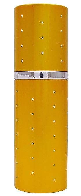 b7373097b180 Amazon.com : 50 ML Golden Perfume Spray Bottle Circle Atomizer ...