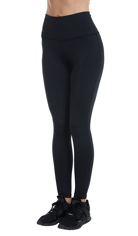 YIVEKO S-2XL Women Power Flex High Waist Yoga Pants Tummy Control Workout Inner Pocket Yoga Capris Pants Leggings