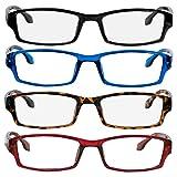 Reading Glasses 0.75 Black Tortoise Red Blue