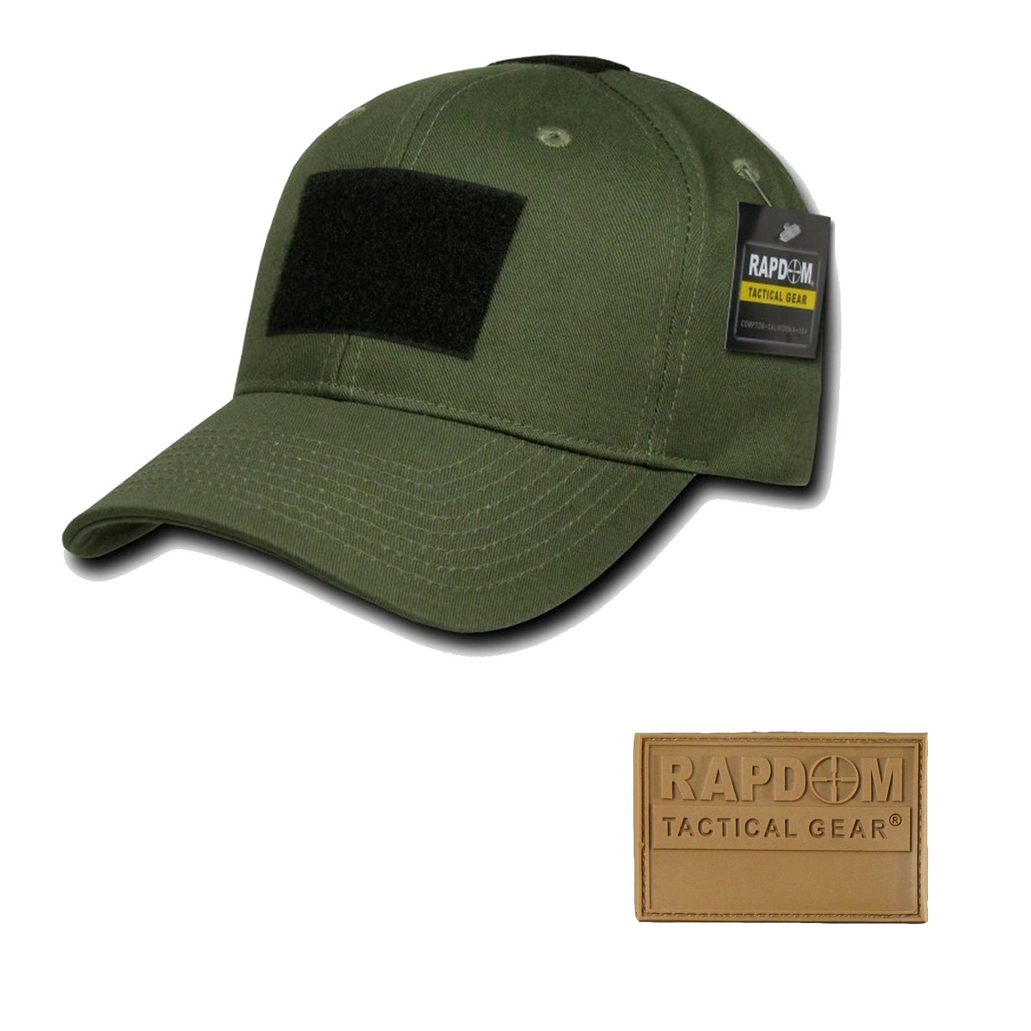 RAPDOM Genuine Tactical Constructed Ball Operator Cap Olive Caps with Free Patch (Olive, RAPDOM Genuine Coyote Patch) by RAPDOM