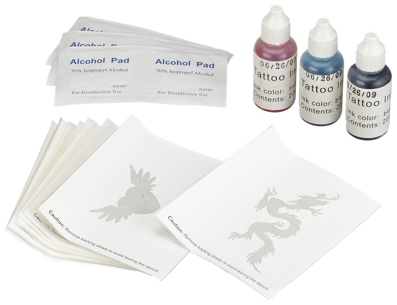 Mia NS-TM 5001 - Set de creación de tatuajes (plantillas y tintas ...