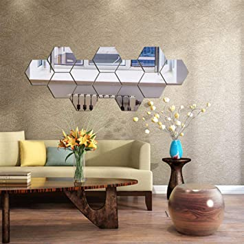 Large Mirror Square Foil mirror wall stickers Decal Bedroom Living Room Decor