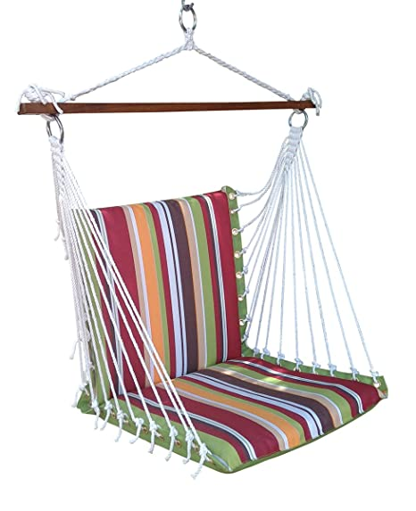 Hangit Polyester Premium Cushioned Home and Garden Hanging Swing Chair for Indoor / Outdoor (Calypso Stripe)