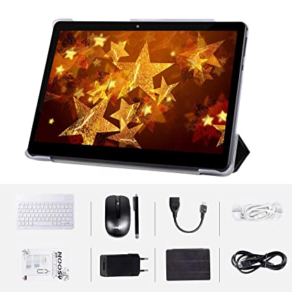 Android7.0 Tablet PC 10 Inch WiFi 4+64GB 1280X800 IPS Display Google Certified Dual Camera Quad-Core Bluetooth GPS