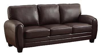 Prime Homelegance Rubin 85 Bonded Leather Sofa Dark Brown Evergreenethics Interior Chair Design Evergreenethicsorg