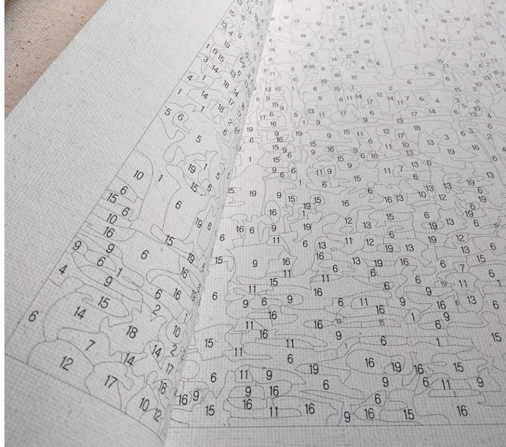Schöne Hundekleidete Ölgemälde Bild by by by Zahlen Modul Bild Färbung Von Hand Einzigartiges Geschenk Dekoration Für Kinderzimmer 16X20 Zoll DIY Rahmen B07PR8HVTD   Trendy  3b5e60