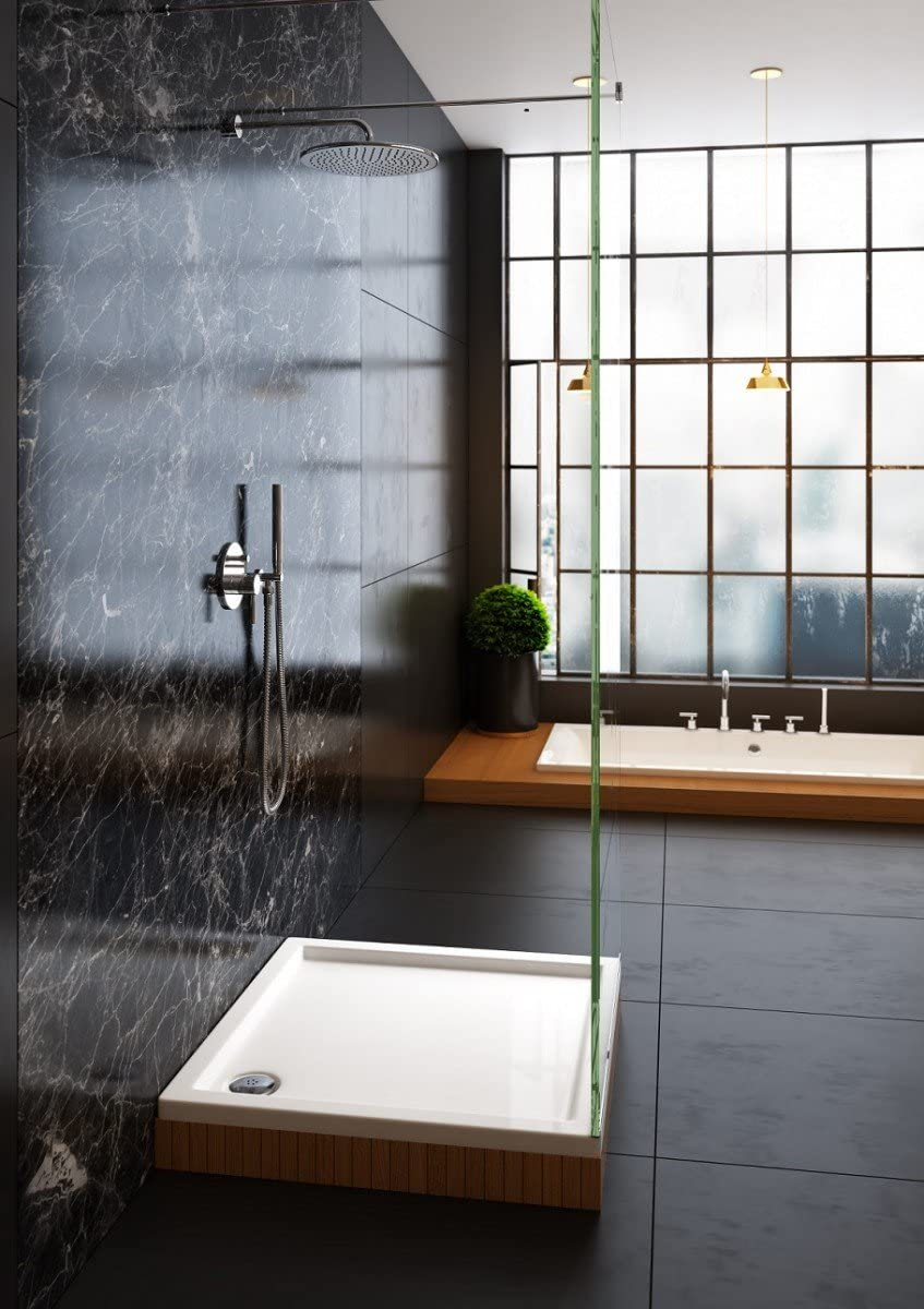 Plato de ducha de Galdem rectangular, liso, de alta calidad, de acrílico para cabinas de ducha: Amazon.es: Bricolaje y herramientas