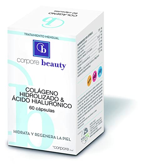 Corpore Beauty Colágeno Hidrolizado con Ácido Hialurónico - 60 Cápsulas