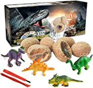 Dinosaur Toys, Dino Egg Dig Kit Kids Gifts - Break Open 12 Unique Dinosaur Eggs and Discover 12 Cute Dinosaurs - Easter Arch